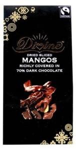 Sweet mangos covered in rich dark chocolate