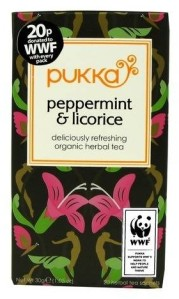 licorice and peppermint tea