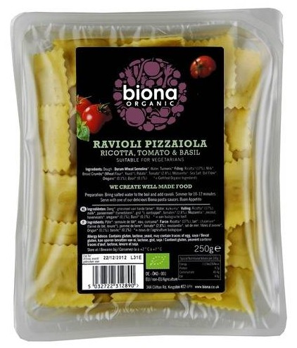 Biona Ravioli Pizzaiola