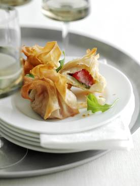 Strawberry and Brie Parcels
